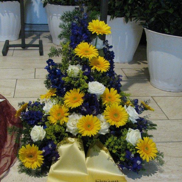 Blumenbukett, gelb/weiß Bild 1