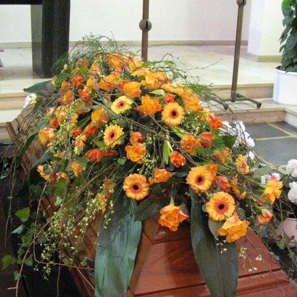 Sarggebinde, orange/gelb Bild 1