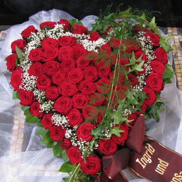 Blütenherz, rot Rosen Bild 2