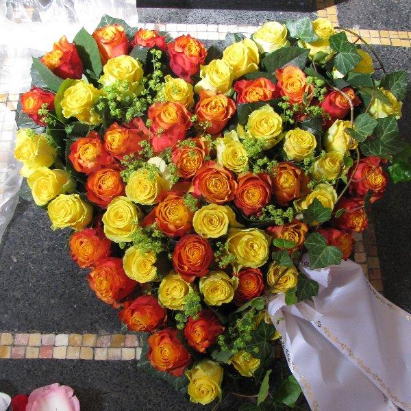 Blütenherz, gelb/orange Bild 1