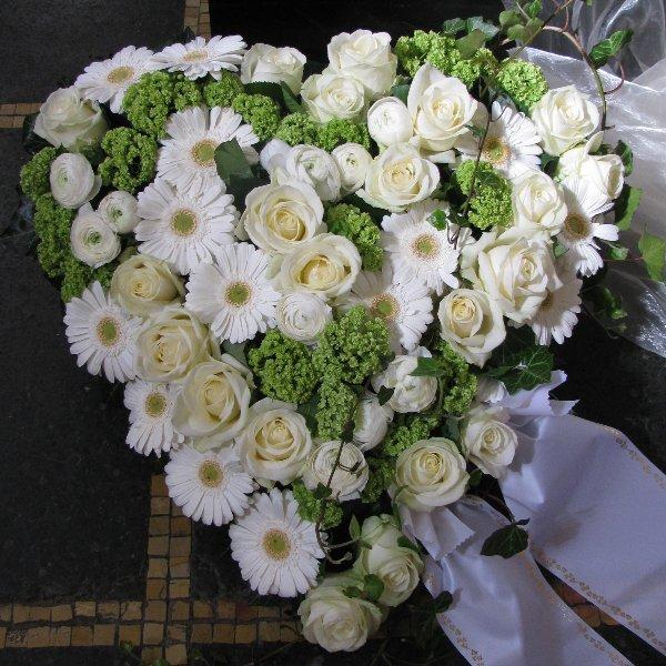 Blütenherz, weiß/grün Bild 1
