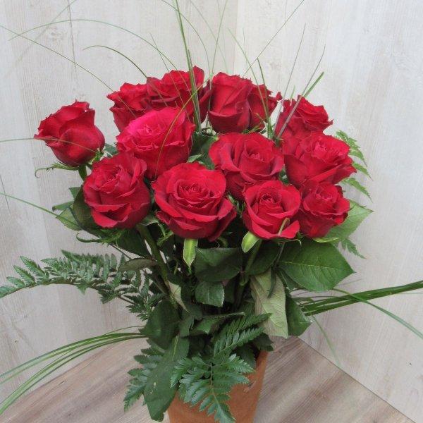 Rote Rosenstrauß Bild 1