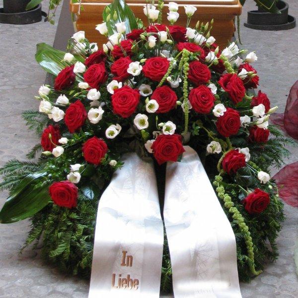 Trauerkranz rot/weiß Bild 1