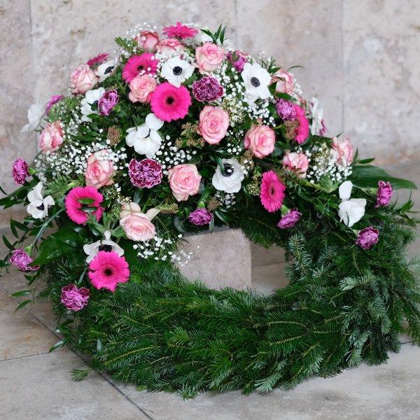 Trauerkranz in rosa Bild 2