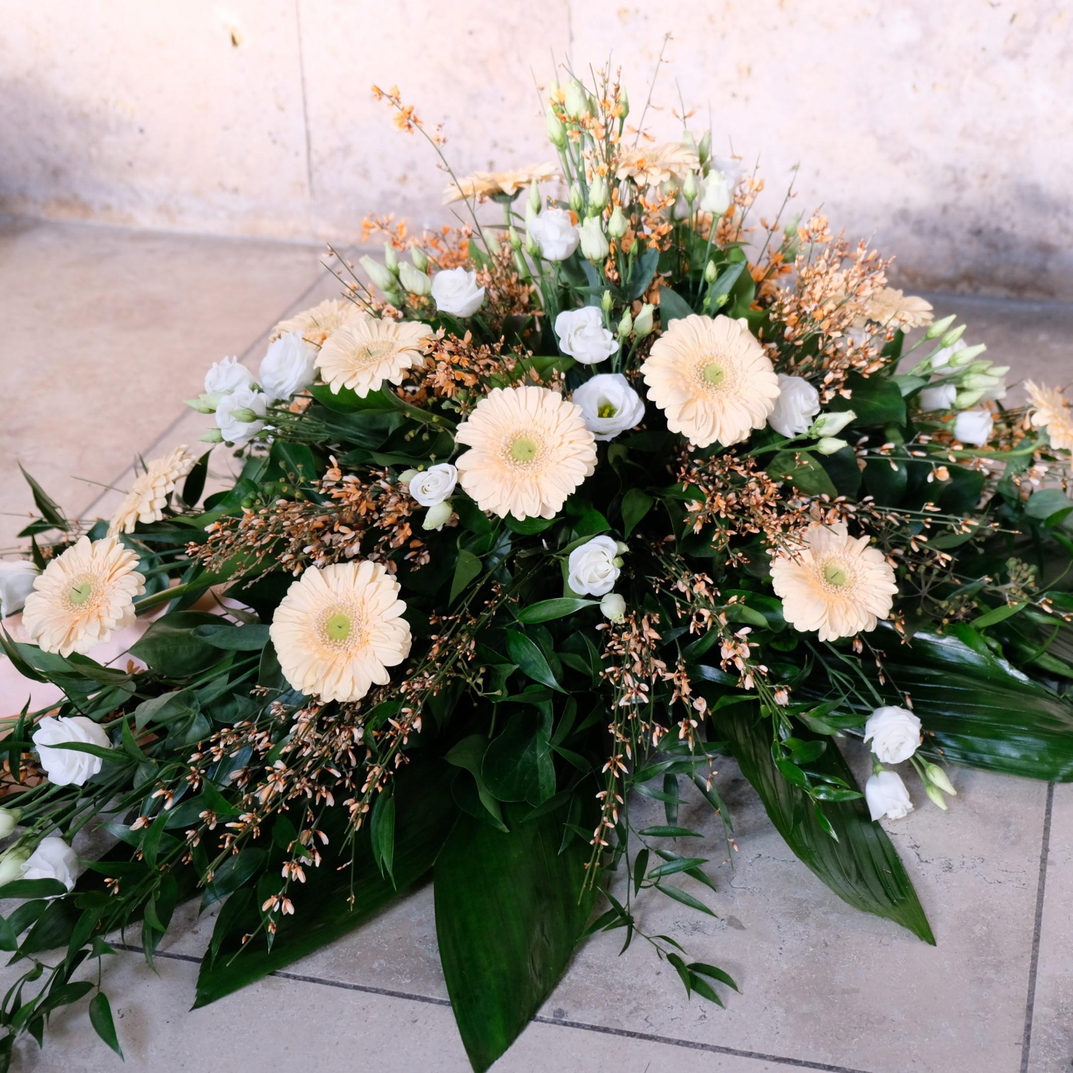 Blumenbukett in creme Bild 2