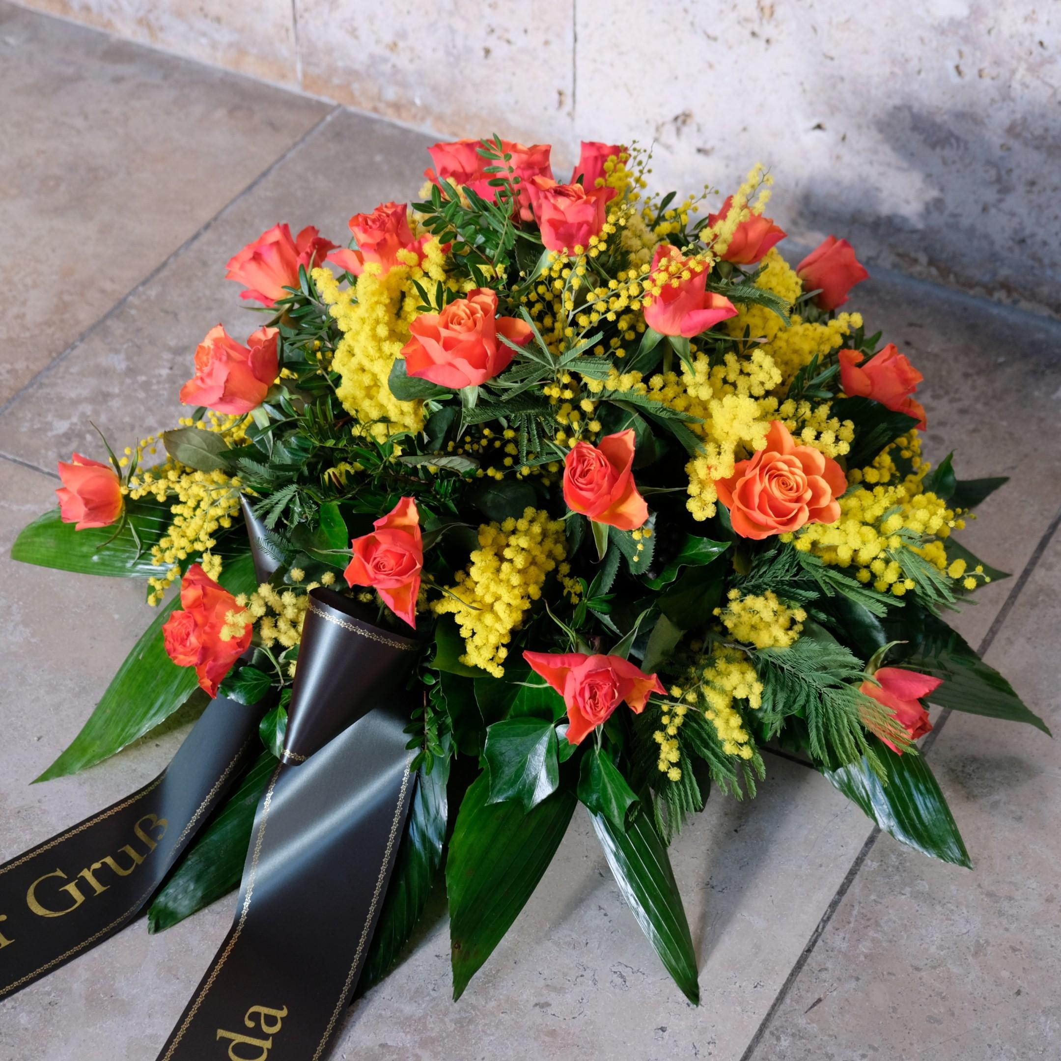 Blumenbukett in orange Bild 1