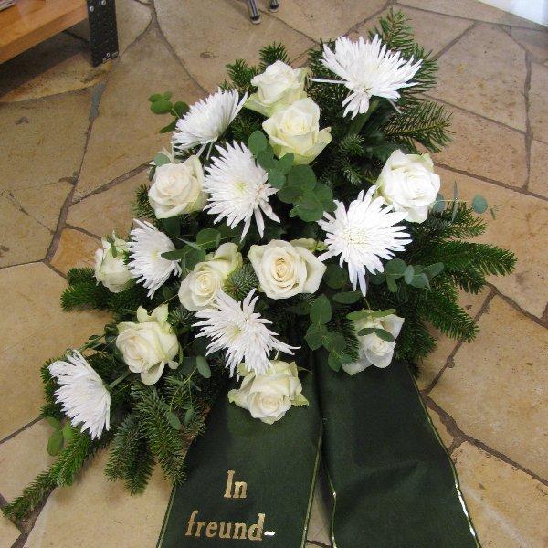 Blumenbukett, weiß Bild 1