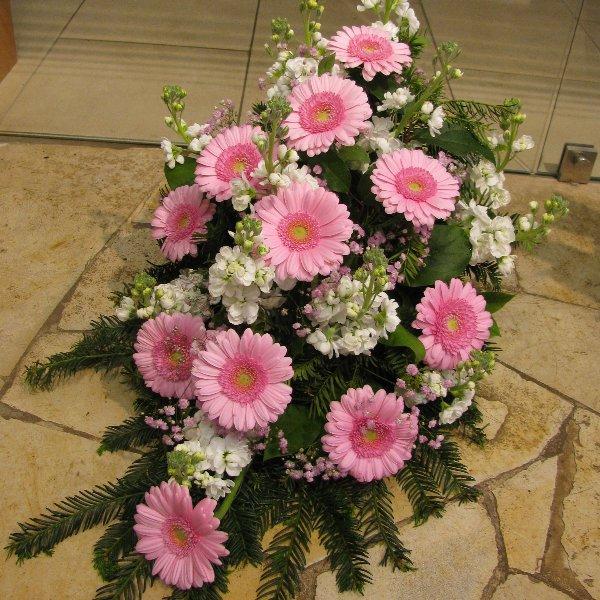 Blumenbukett, rosa/weiß Bild 1