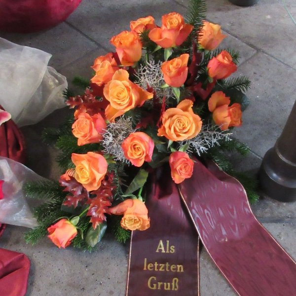 Blumenbukett, orange Bild 1