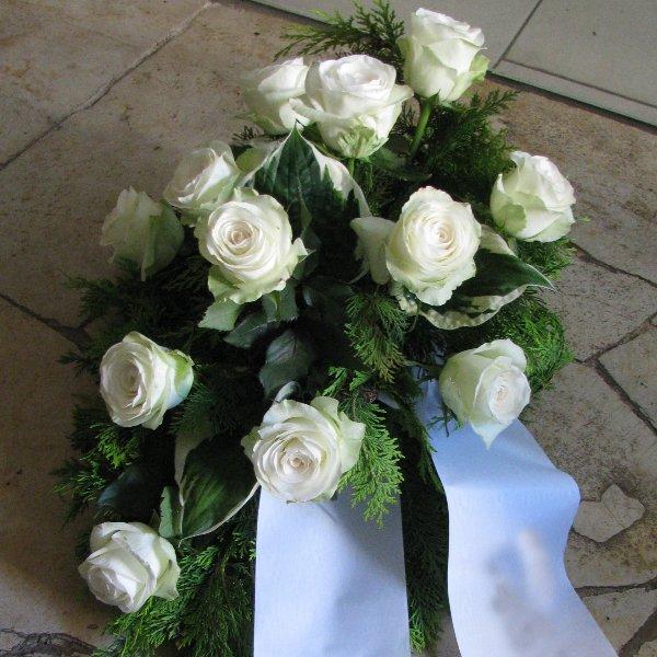 Blumenbukett, weiße Rosen Bild 1