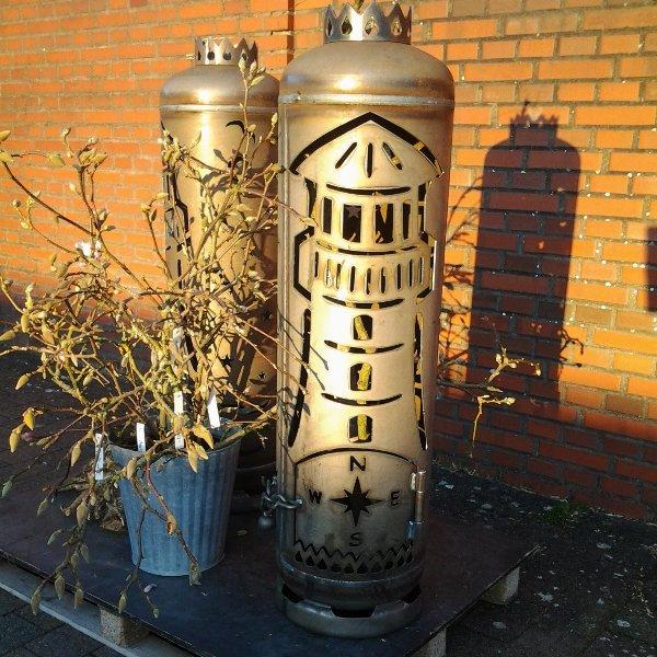 Feuertonne Leuchtturm Bild 1