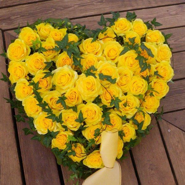 Trauerherz in gelb Bild 1