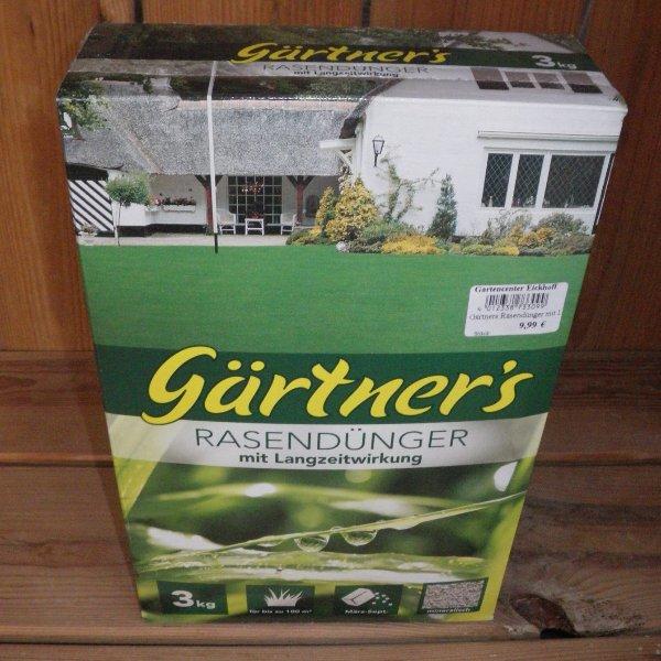Gärtners Rasendünger mit Langzeitwirkung 3kg Packung Bild 1