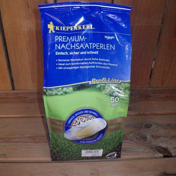 Premium Rasen Nachsaatperlen 1,5kg Packung Bild 1