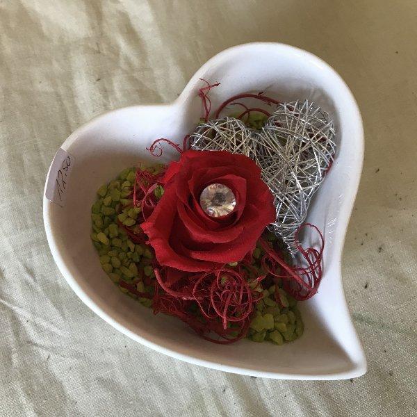 Stabilisierte Rose im Herz Bild 1