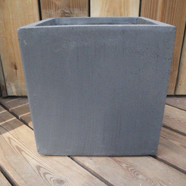ClayFibre Topf Würfel antharzit in unterschiedlichen Größen Bild 1