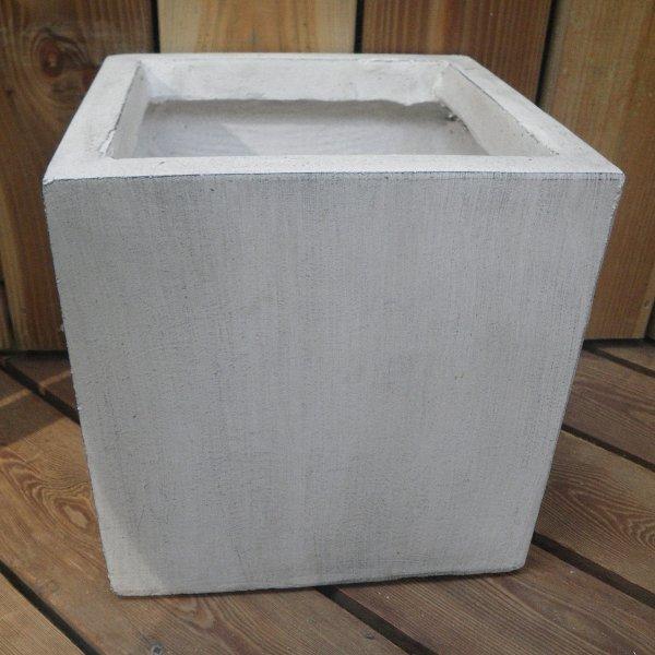 ClayFibre Topf Würfel weiß in unterschiedlichen Größen Bild 1