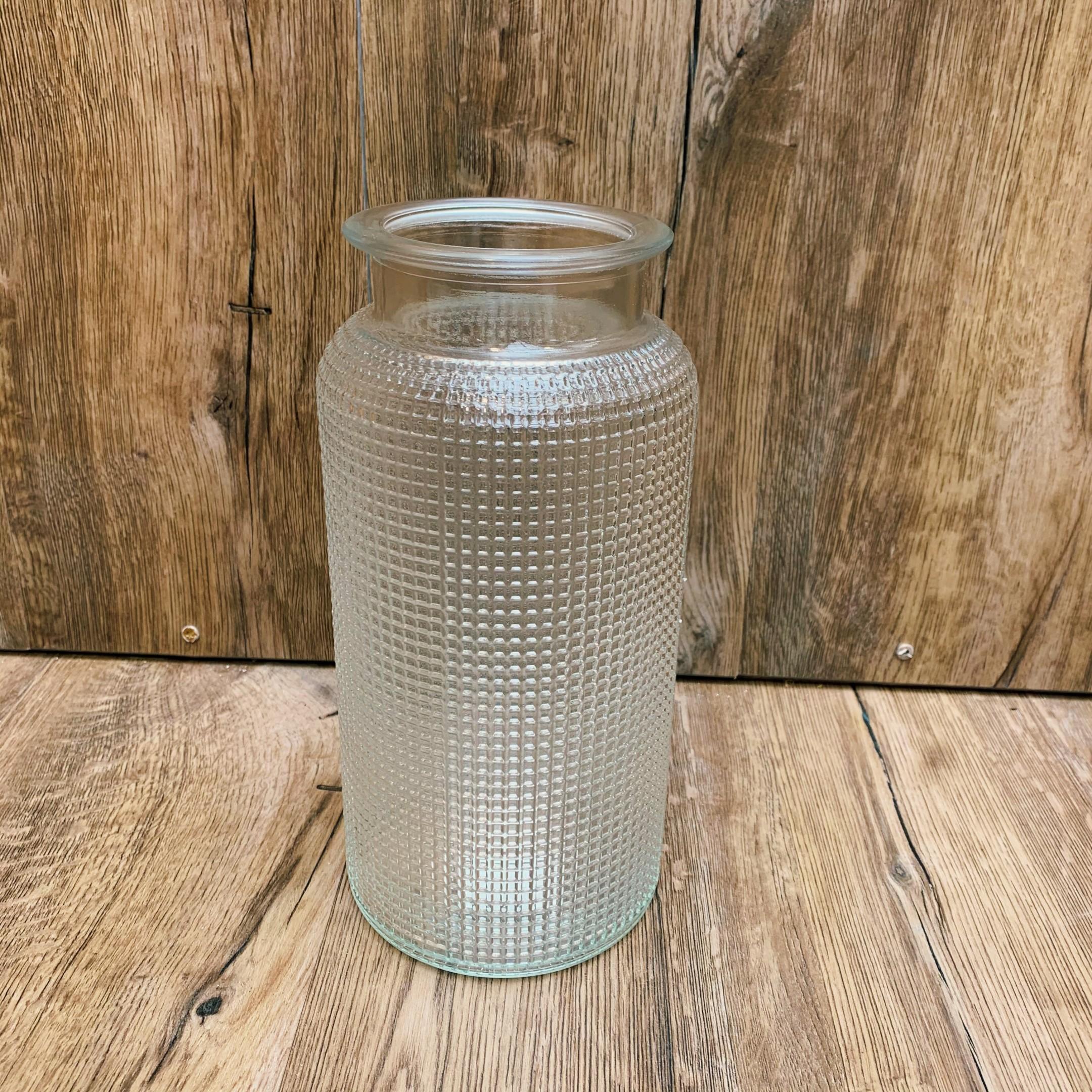 Große Glasvase klar, mit verschiedenen Mustern Bild 2