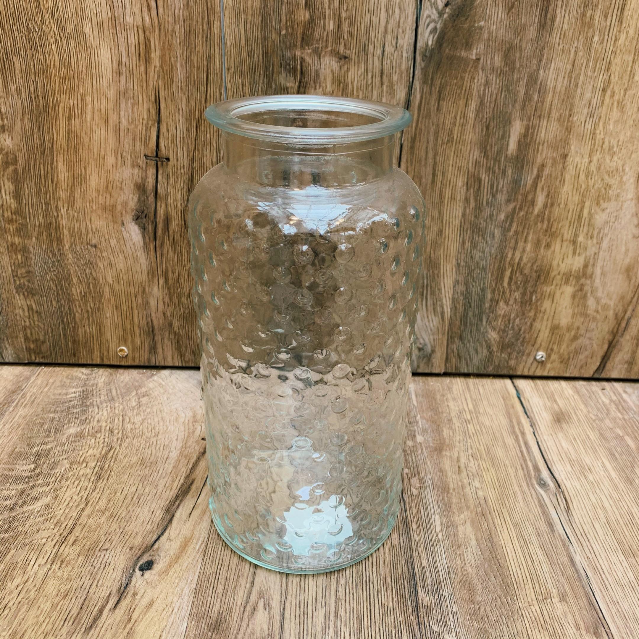 Große Glasvase klar, mit verschiedenen Mustern Bild 3