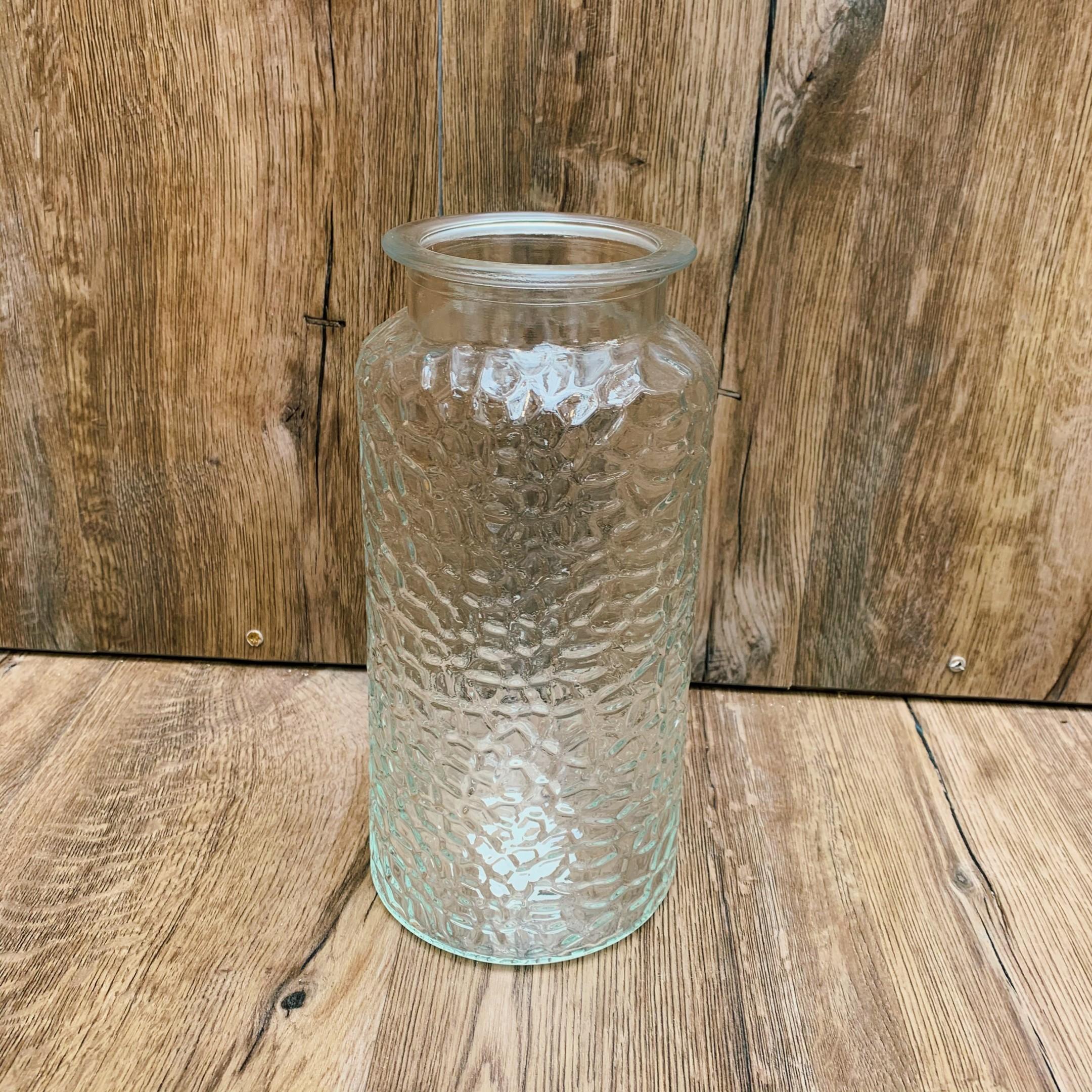 Große Glasvase klar, mit verschiedenen Mustern Bild 4