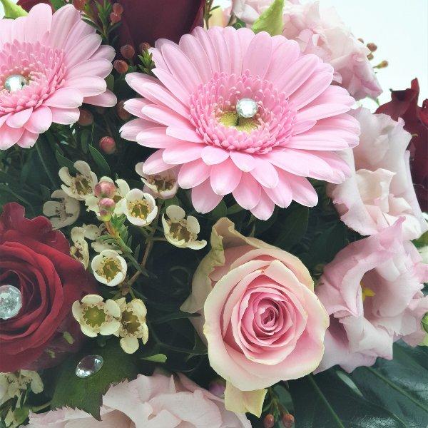 Tischdekoration rosa Bild 2