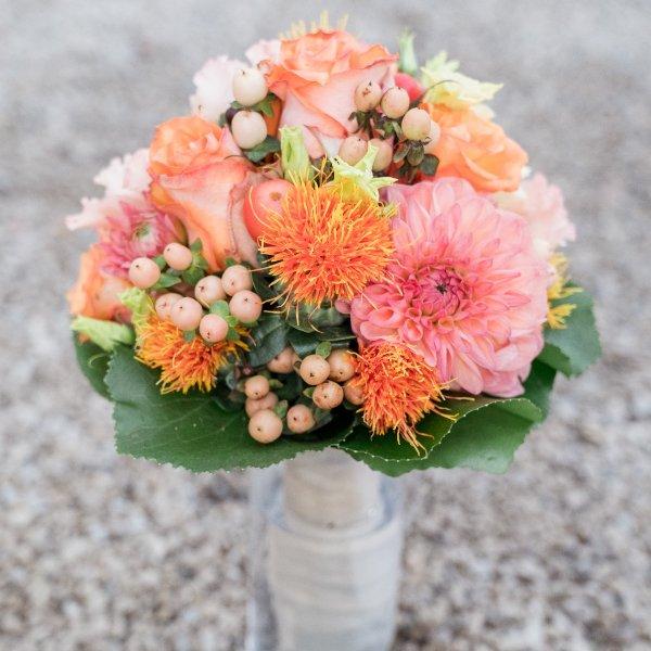 Brautstrauß, orange Bild 1