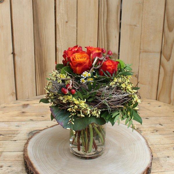 Blumenstrauß in orange Bild 1