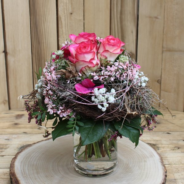 Blumenstrauß in rosa und pink Bild 1