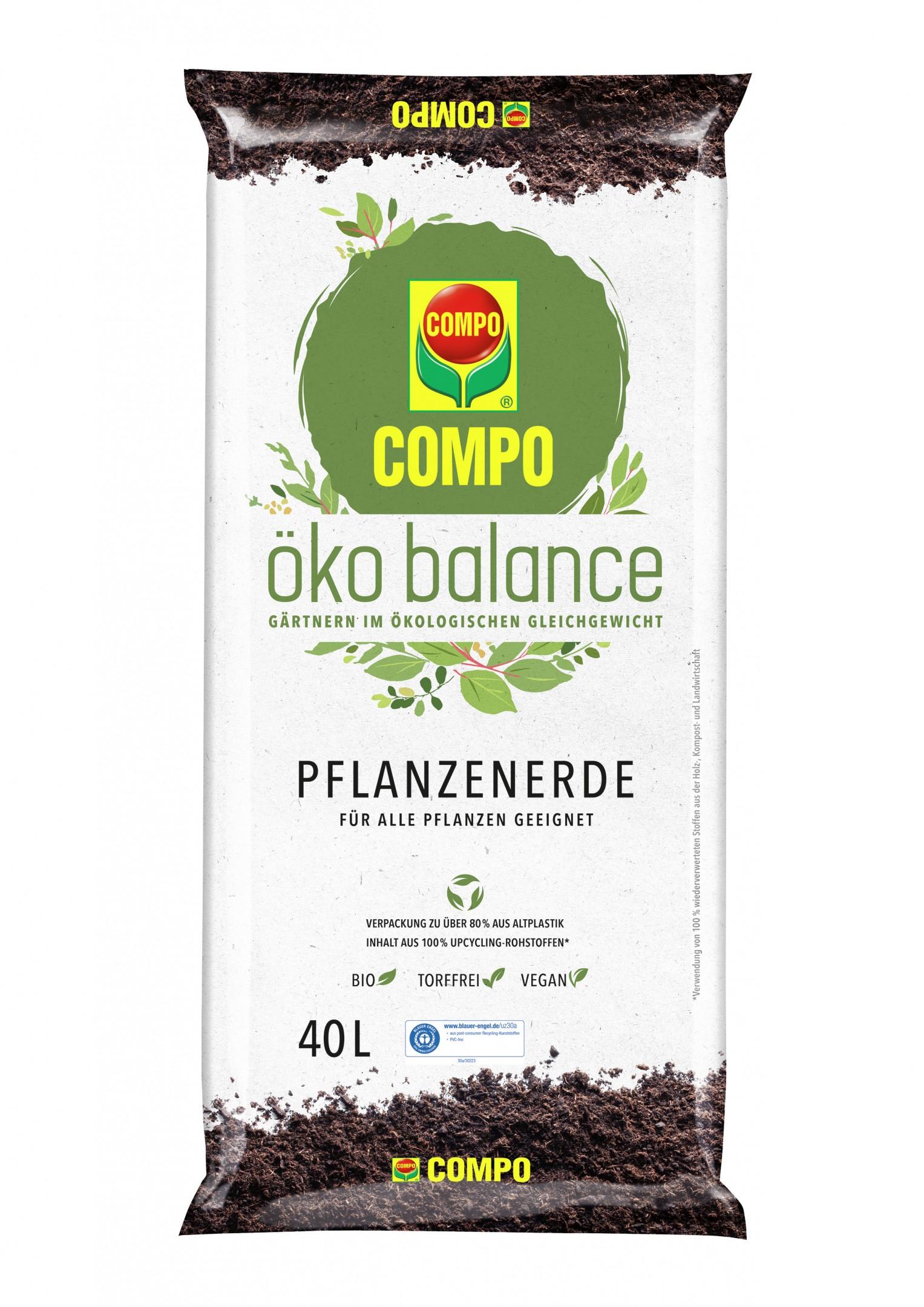 COMPO öko balance Pflanzenerde 40 L Bild 1
