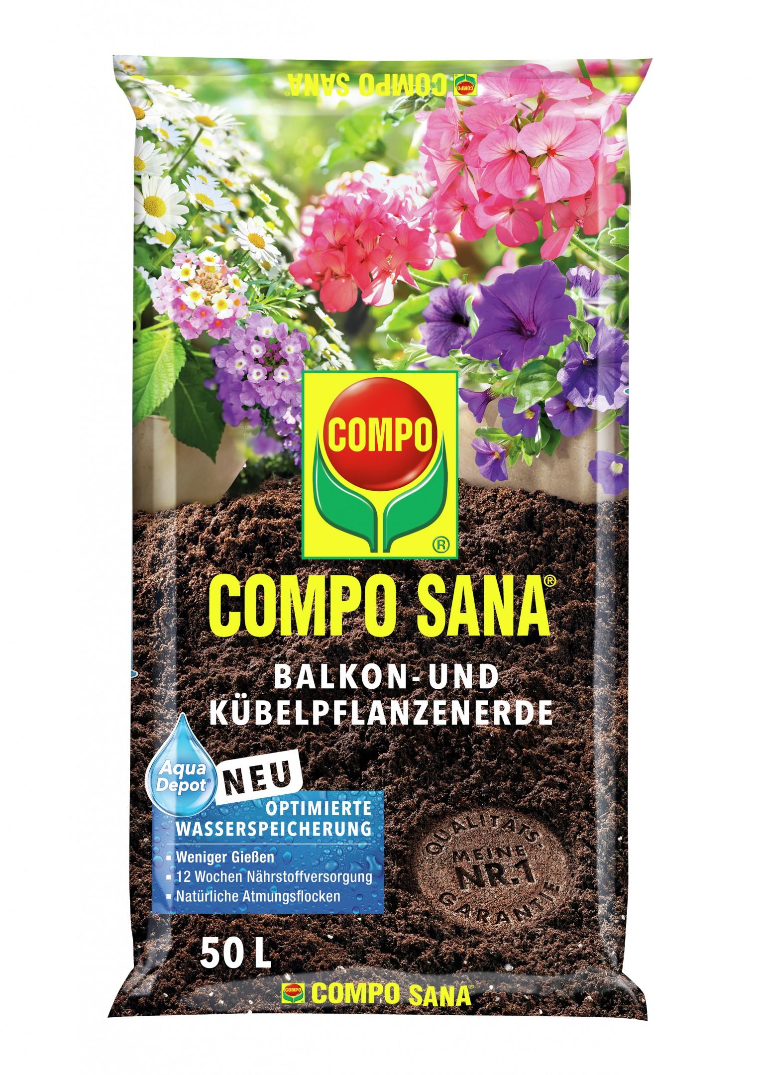 COMPO SANA Balkon- und Kübelpflanzenerde 60 L Bild 1