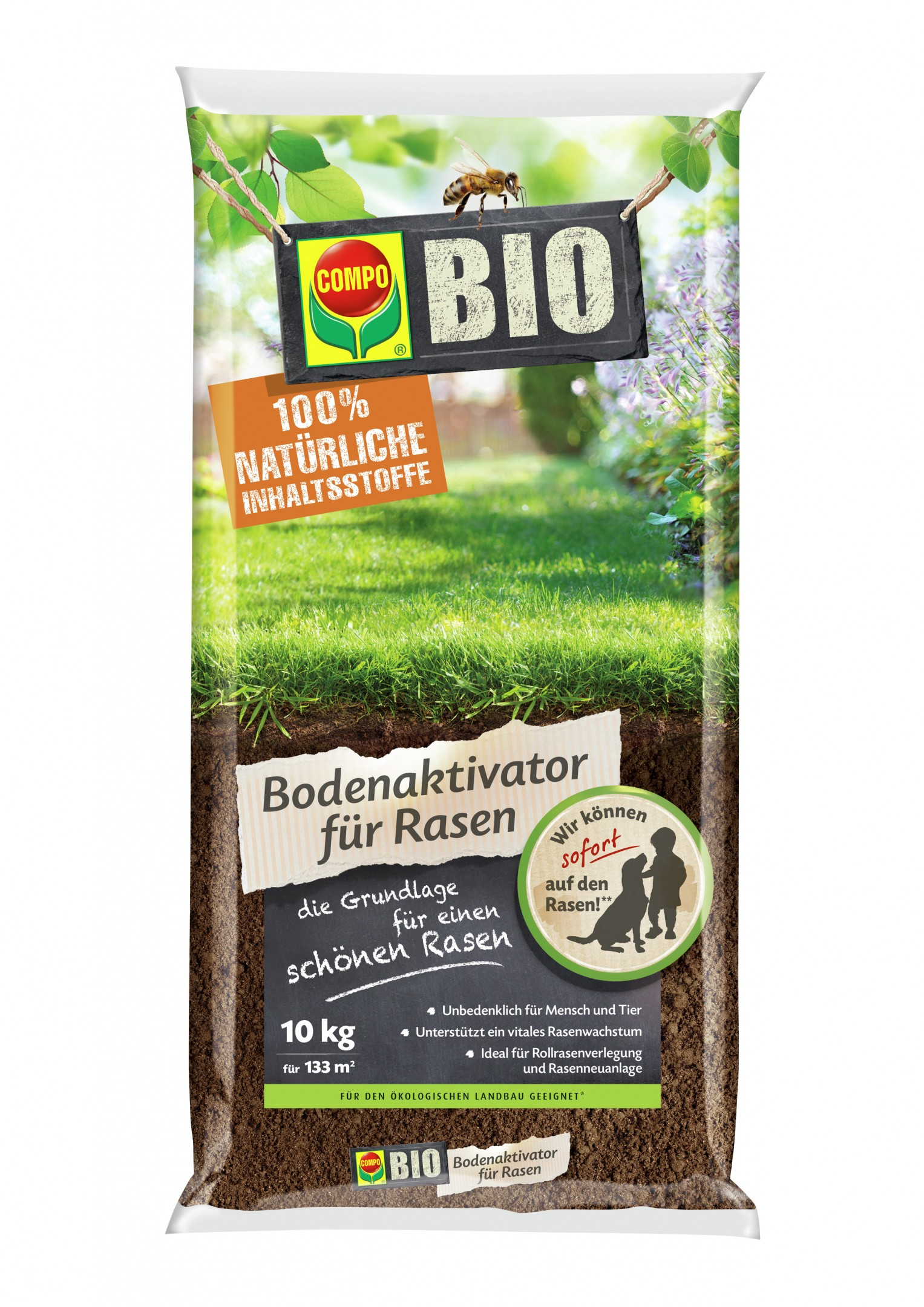 COMPO BIO Bodenaktivator für Rasen  10 kg Bild 1