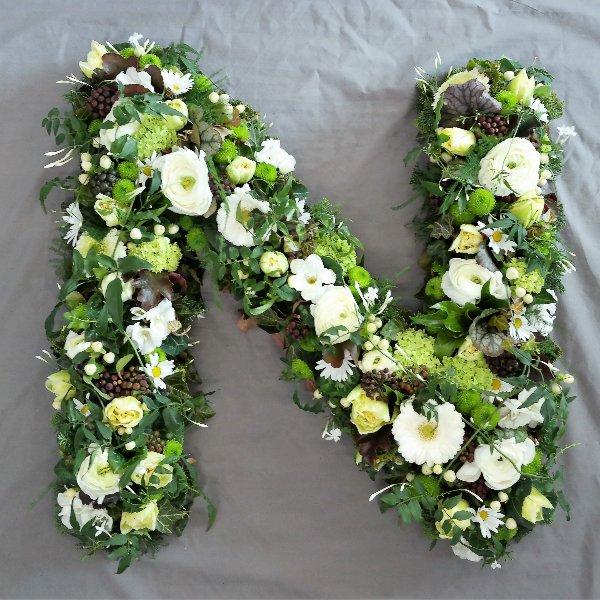 Blumen-Buchstabe Bild 1