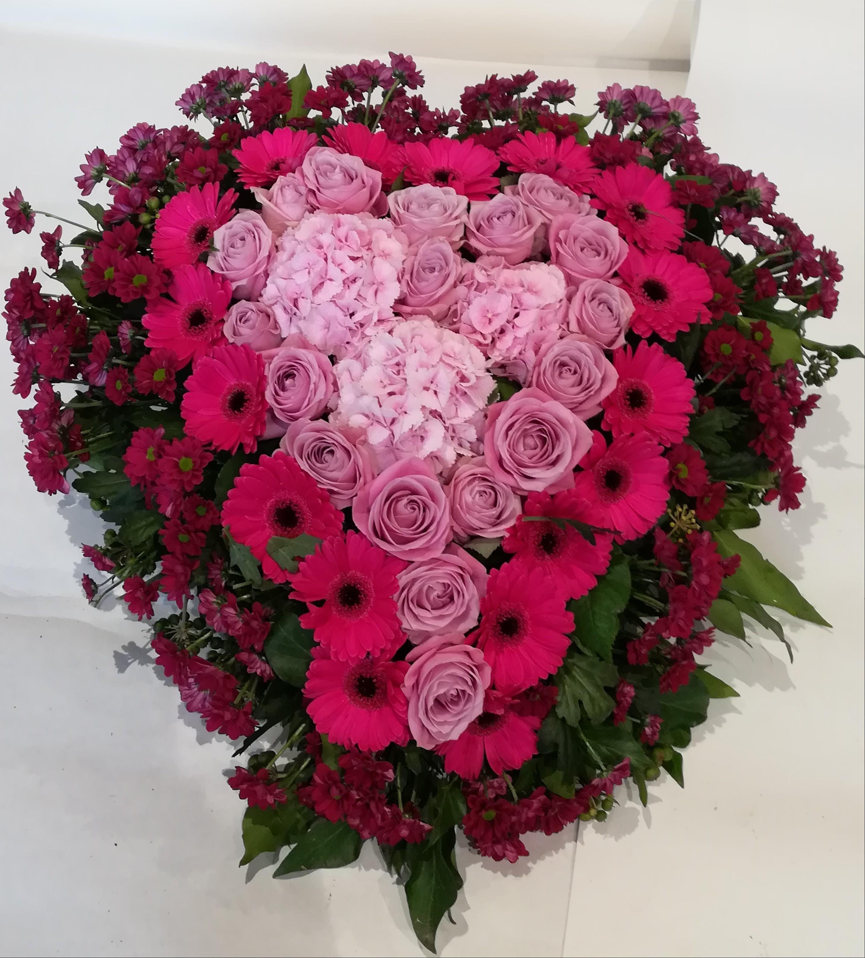 H 7      Herz pink-bordeaux Bild 2