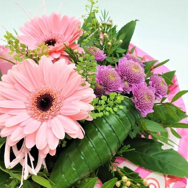 Strauß mit Germini und Rosen in rosa Bild 3