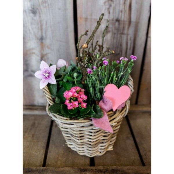 Muttertagskorb in rosa Tönen Bild 1