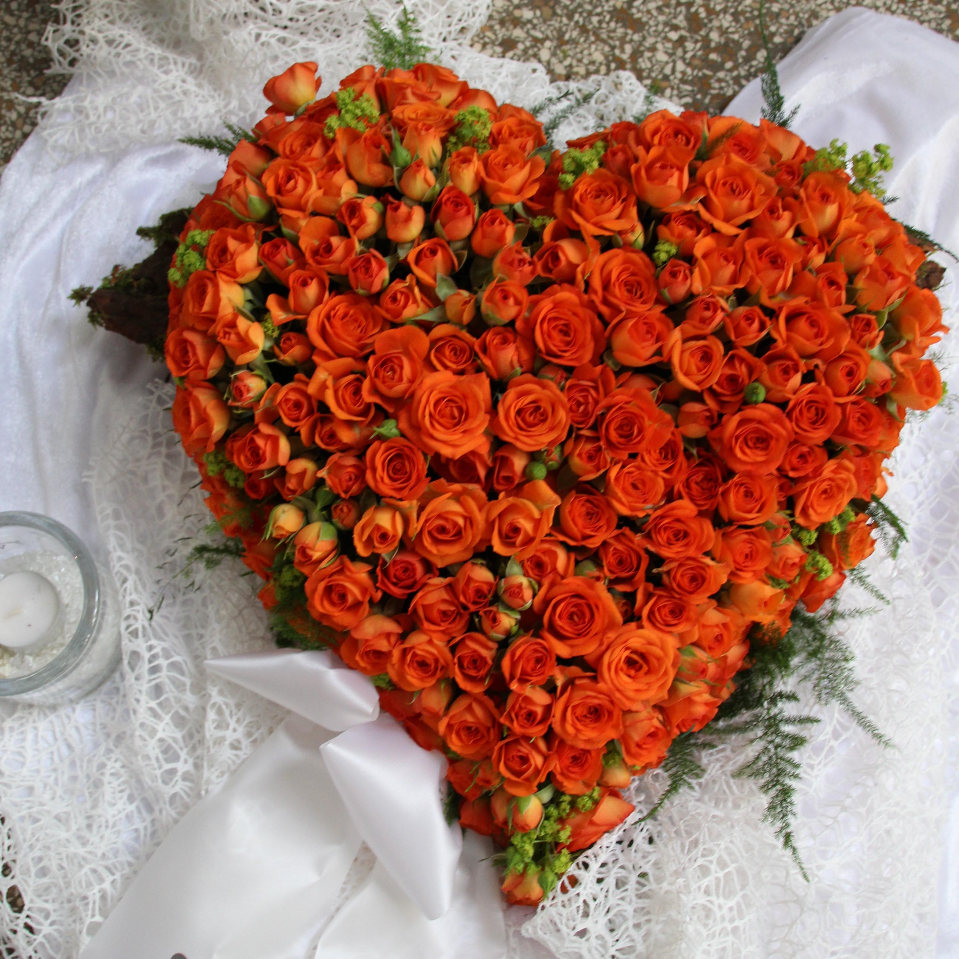 Herz orange Bild 1