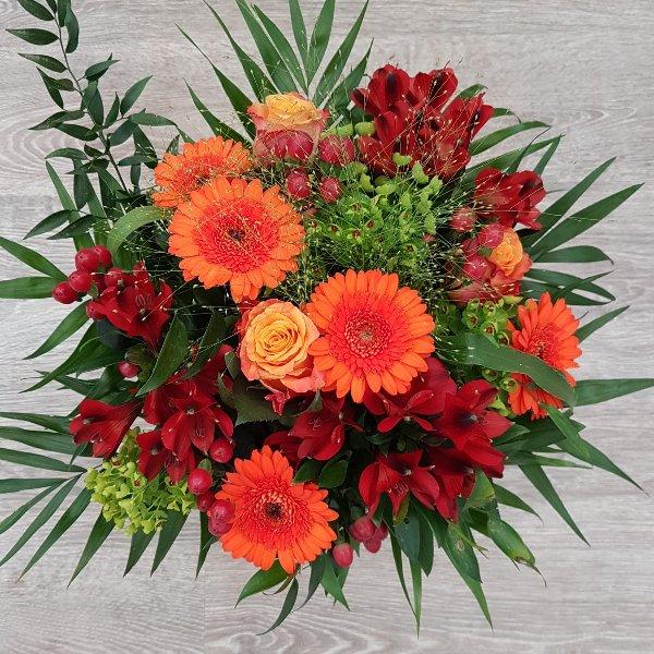 Strauß rot-orange Bild 1