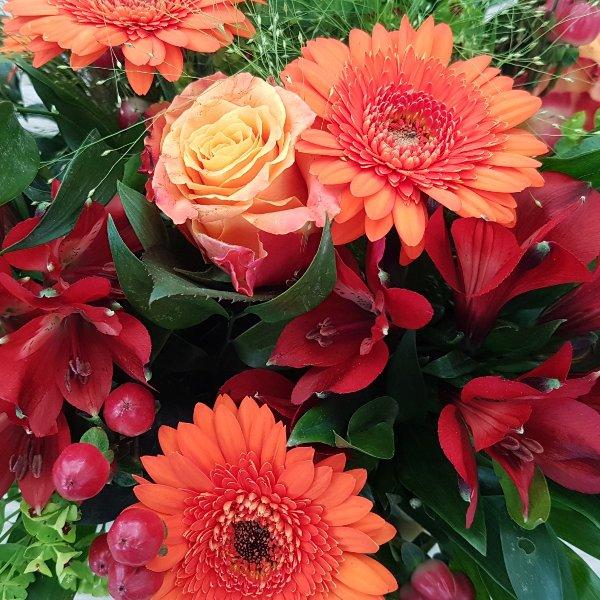 Strauß rot-orange Bild 2