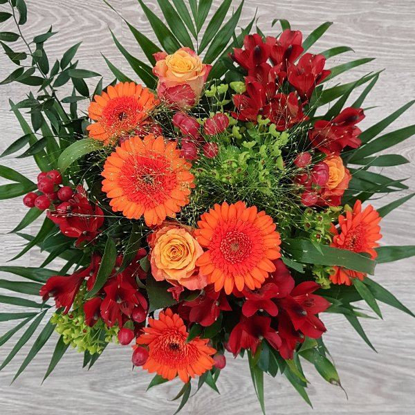 Strauß rot-orange Bild 3