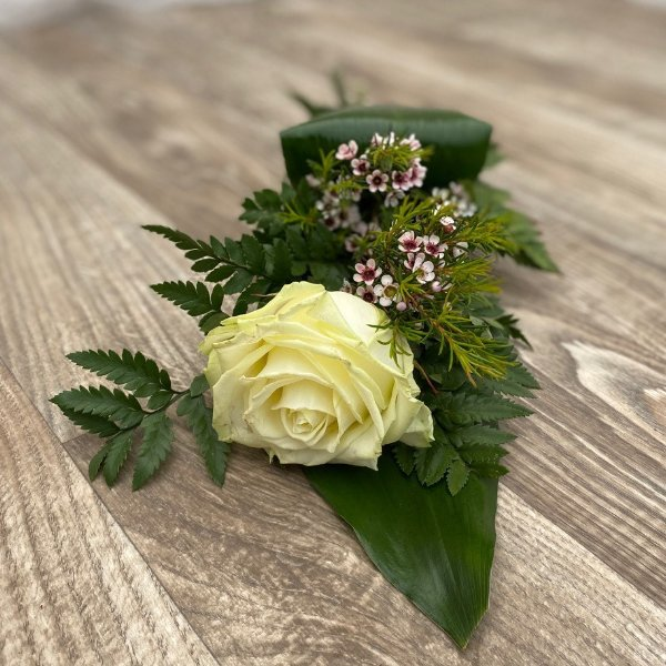 Trauerstrauß- weiße Rose Bild 1