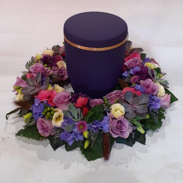 U 13 Urnenkranz  lila-creme-pink Bild 2
