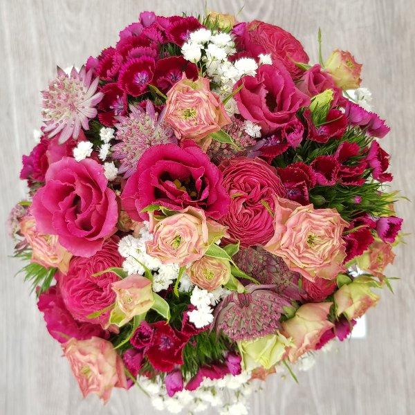 Brautstrauß pink Bild 1