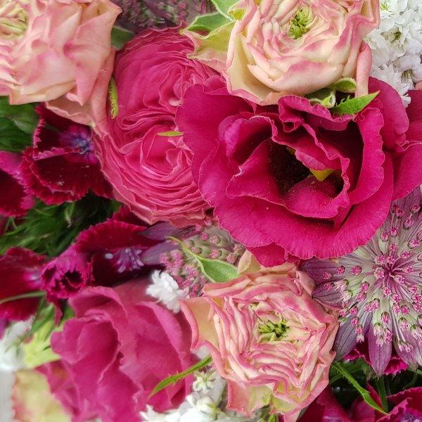 Brautstrauß pink Bild 2