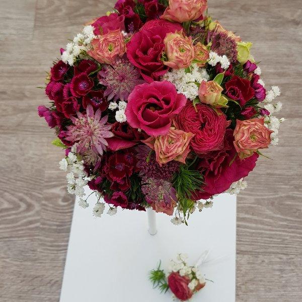 Brautstrauß pink Bild 3