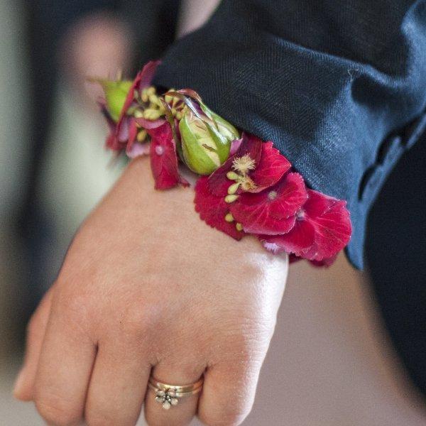 Blumenarmband Hortensie Bild 1