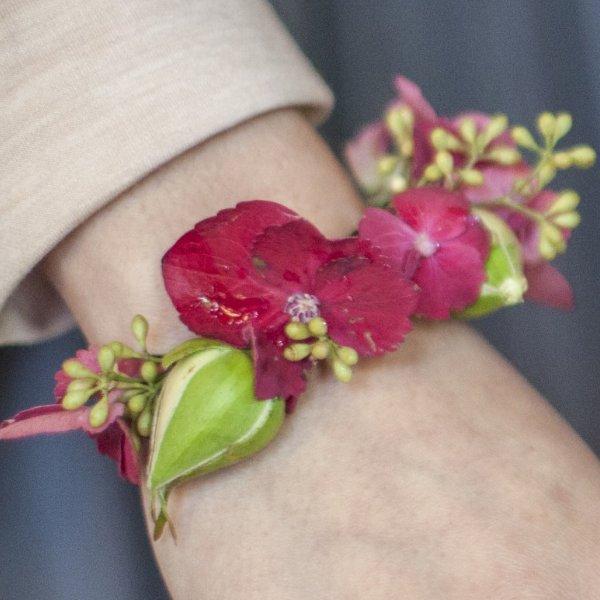 Blumenarmband Hortensie Bild 2