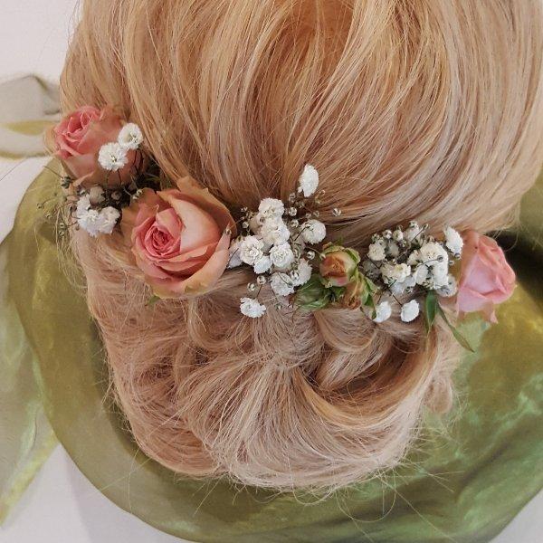 Haarschmuck rosé Bild 1