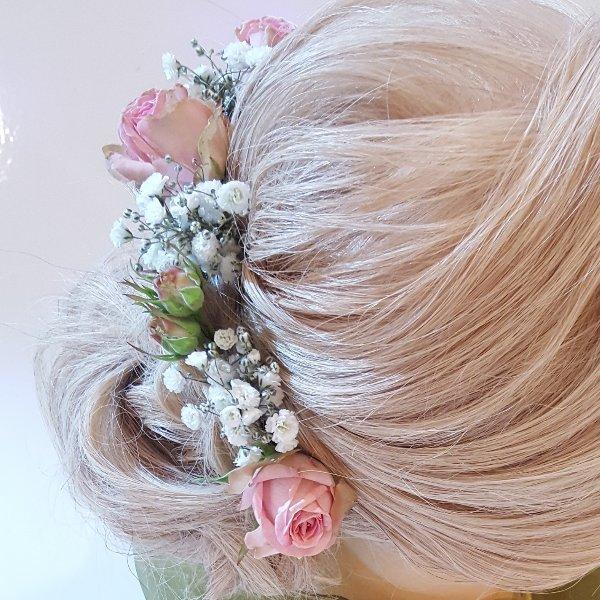 Haarschmuck rosé Bild 2