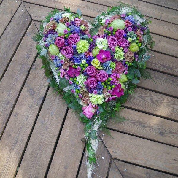 Trauerherz in lila Bild 1