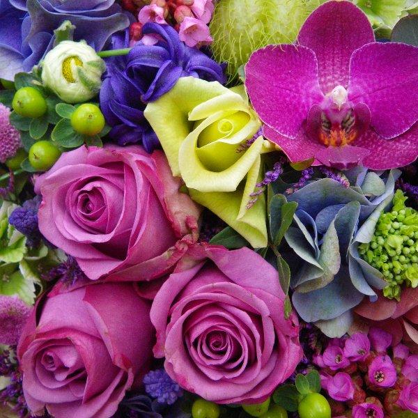 Trauerherz in lila Bild 2
